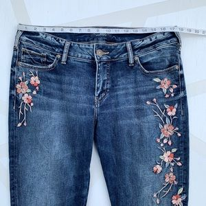 Silver Jeans Jeans - Silver Elyse Skinny Jeans Embroidered Floral 32